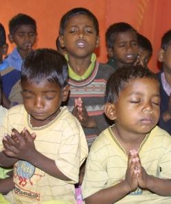 Praying boys