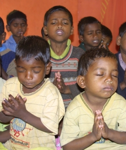 Praying boys