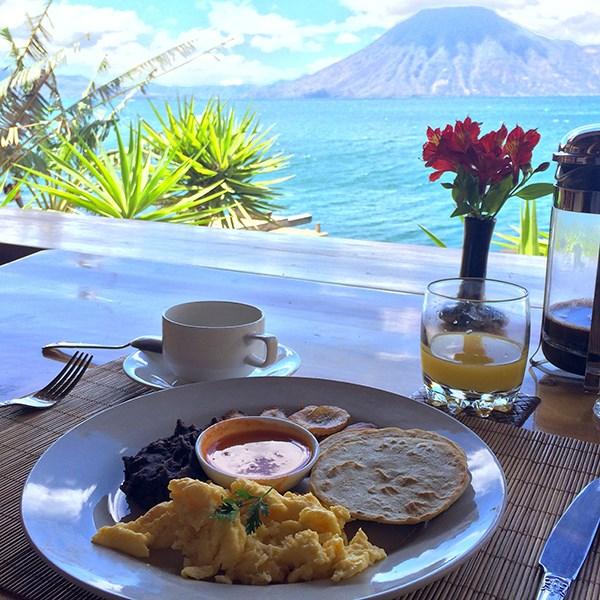 Breakfast Lake Atitlan